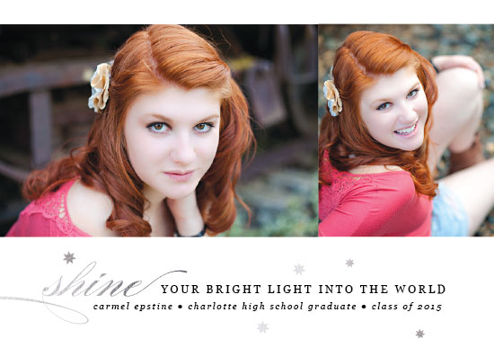 graduation announcements - Shining Light by Bonjour Berry