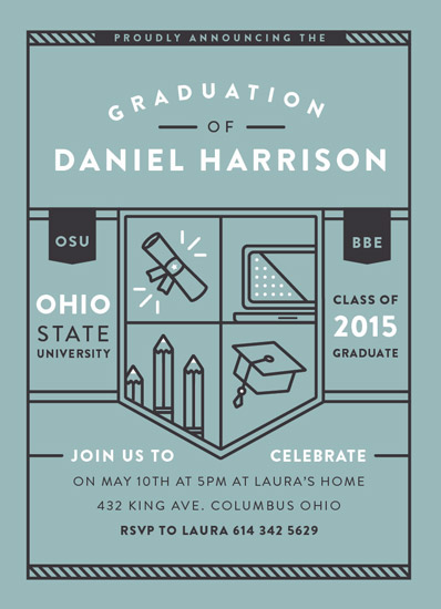 graduation announcements - Collegiate Crest by Haley Fischer