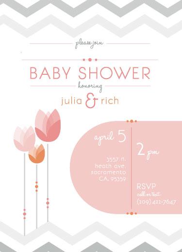 baby shower invitations - Tulips Celebrate Spring Showers by Cara Van Valkenburg
