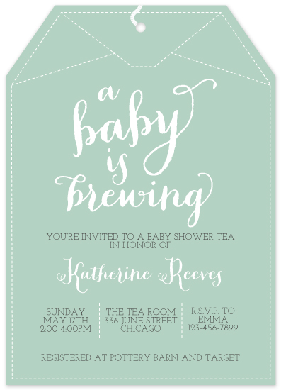 Baby Shower Invitations A Brewing