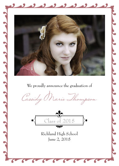 graduation announcements - Beautiful Border by Sue Minor