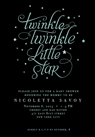 baby shower invitations - twinkle by Nina Johnson