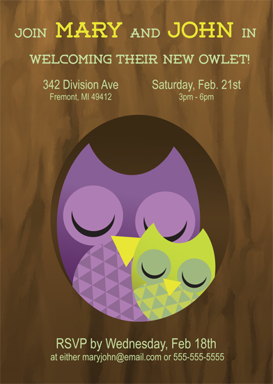 baby shower invitations - Owl Be Joining You by Haley Hawes