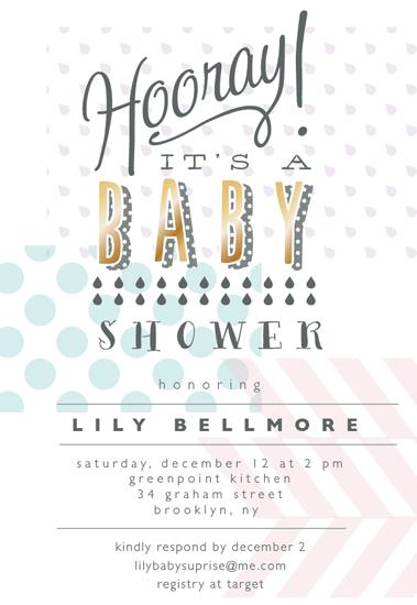 baby shower invitations - hooray prints by Nina Johnson