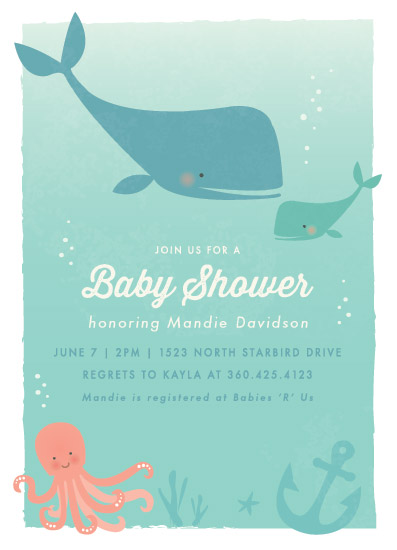 baby shower invitations - Ocean Love by Karidy Walker
