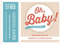 Oh Baby Baseball Ticket by Julie Cronin