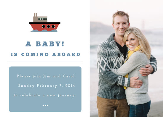 baby shower invitations - A baby is coming aboard. by Franklin OToole