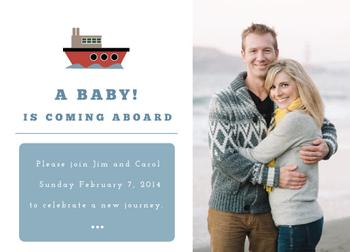 A baby is coming aboard.