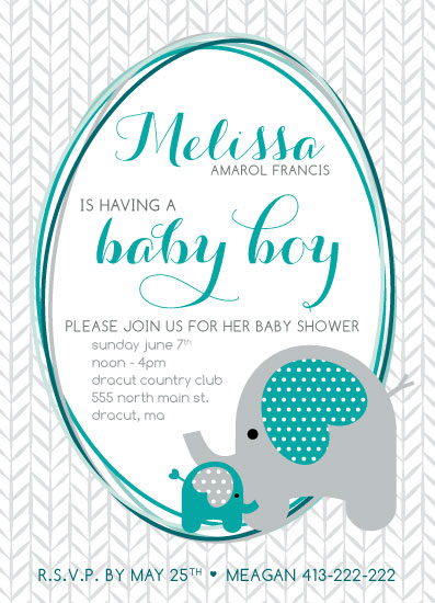 baby shower invitations - Junior & Mom by Danielle Haramut