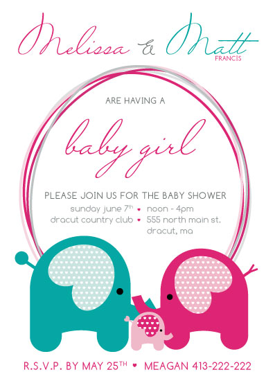 baby shower invitations - Ella Family by Danielle Haramut