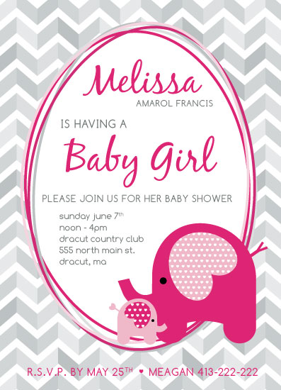 baby shower invitations - Bella & Mom by Danielle Haramut