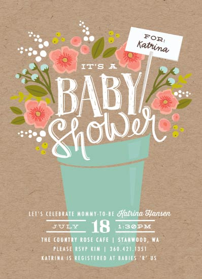 baby shower invitations - Special Delivery Bouquet by Karidy Walker