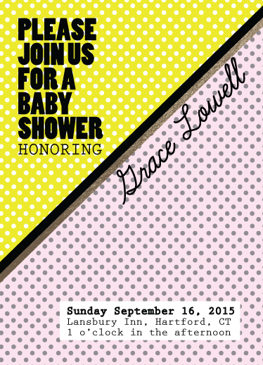 baby shower invitations - Dots and Diagonals by Pooja Dharia