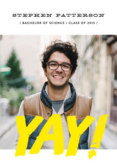 graduation announcements - Yellow YAY by Phrosne Ras