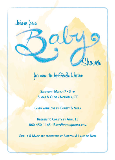 baby shower invitations - Baby Joy by Judith Moderacki