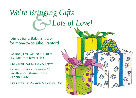 baby shower invitations - Gifts with Love by Judith Moderacki