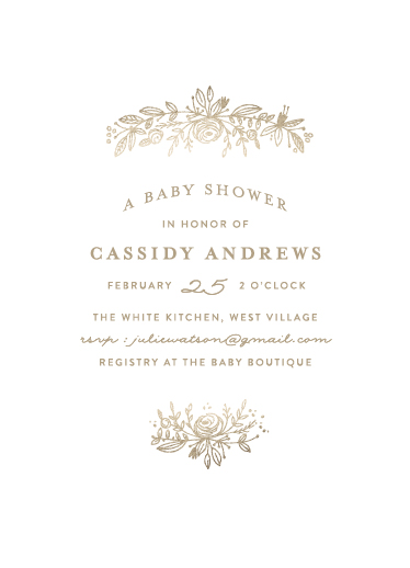 baby shower invitations - perfect posey by Phrosne Ras