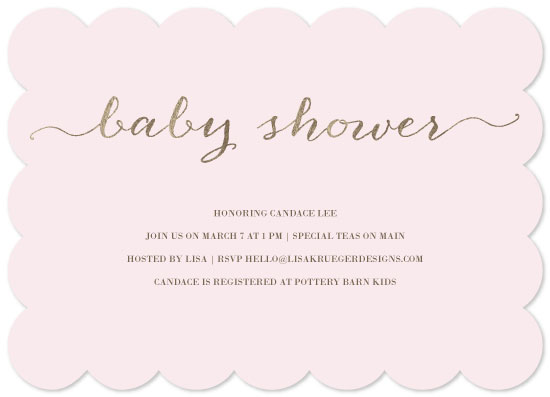 baby shower invitations - Sweet Simplicity by Lisa Krueger