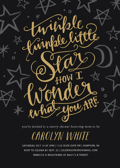 baby shower invitations Twinkle Twinkle Little Star at Mintedcom