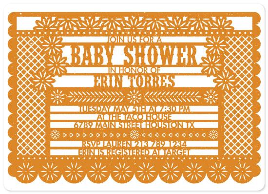 baby shower invitations - Bebé Fiesta by Jenny Thomas