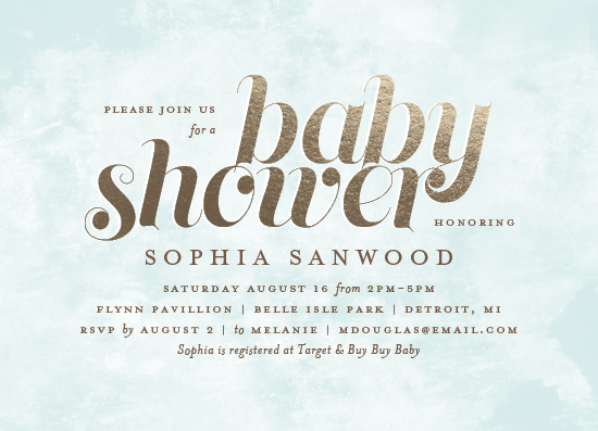 baby shower invitations - Soft Wash by Snow and Ivy