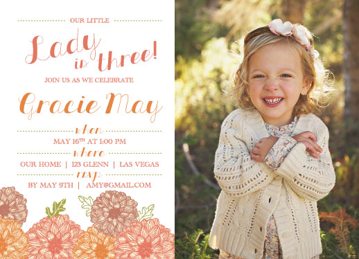 party invitations - Little Lady by Amanda Kay