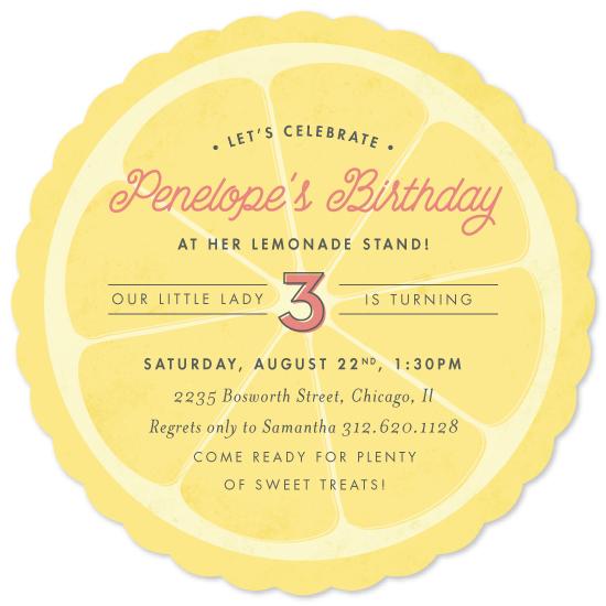 party invitations - lemonade stand by Carolyn Nicks