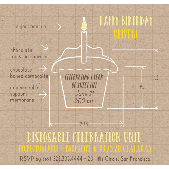 party invitations - Cupcake by Alex Colombo