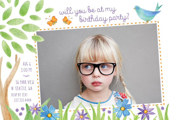 party invitations - Happy Birthday in the Park by Alex Colombo