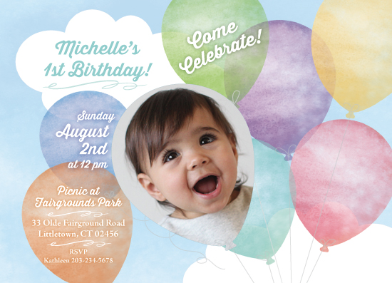 party invitations - Up In The Clouds! by Karen Ciocca