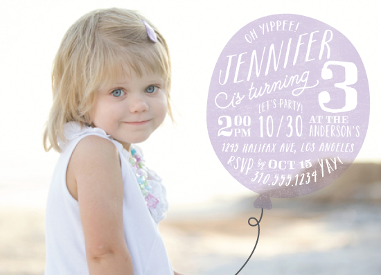 party invitations - Big Balloon by Leah Bisch