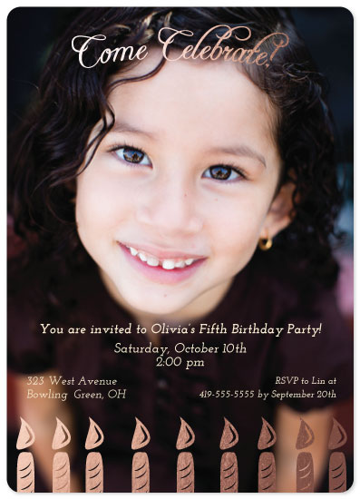 party invitations - Classy Candles by Leah Mowry