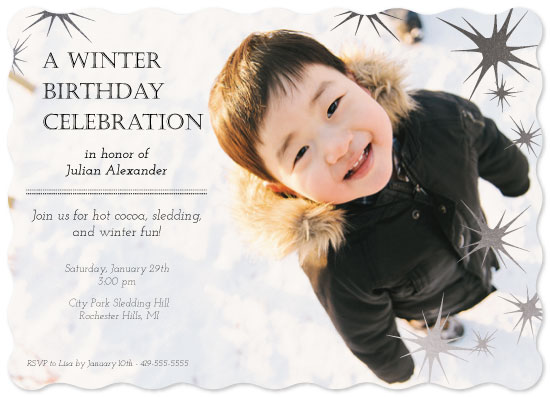 party invitations - Sledding Party by Leah Mowry