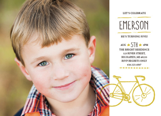 party invitations - Retro Bike by Laura Hamm