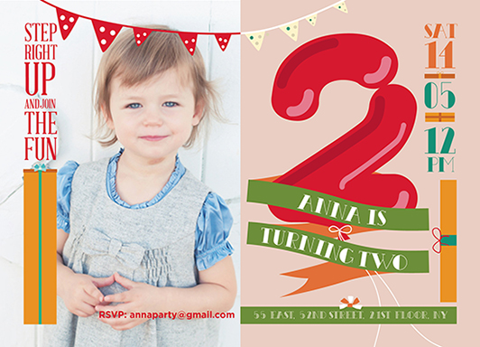 party invitations - Anna is two! by Ivana Aleksov