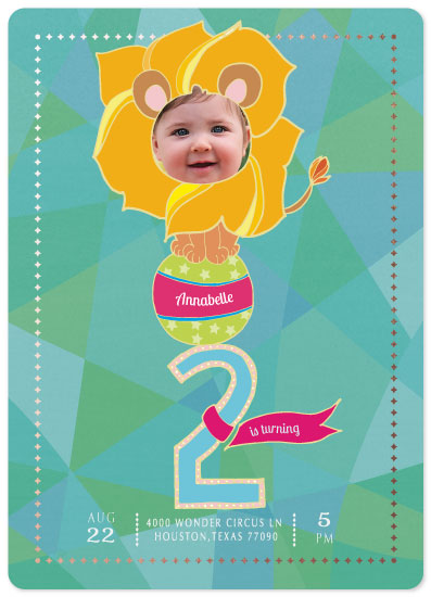 party invitations - BRAVE TINY LION by eb