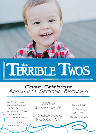 party invitations - Terrible Twos by Leah Mowry
