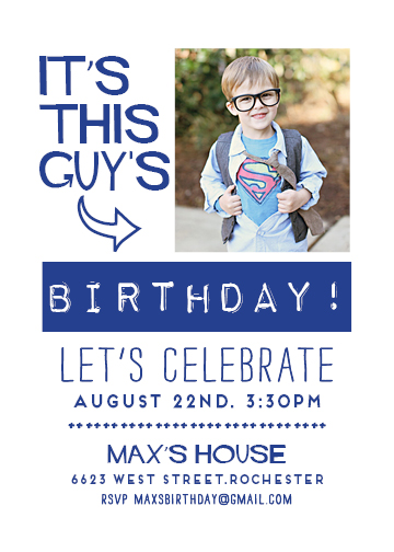 party invitations - This Guys Birthday by The Paper Proposal