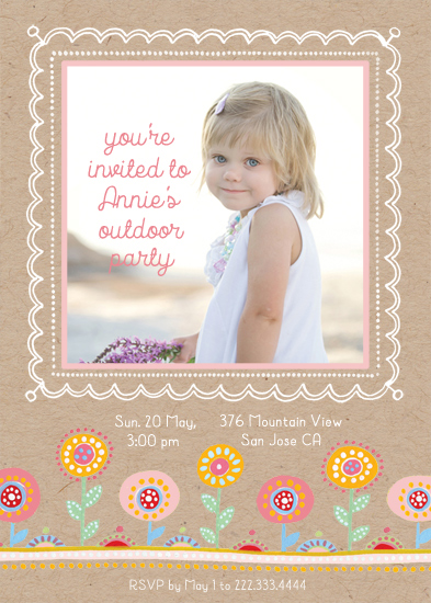 party invitations - Candy Flowers by Alex Colombo