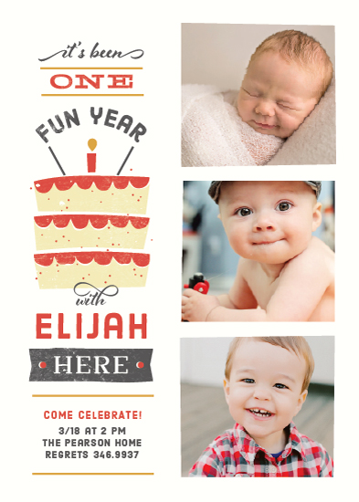 party invitations - It's Been One Fun Year by Kimberly Morgan