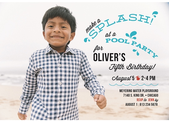 party invitations - Make a Splash Pool Party by Flowerbox Greetings