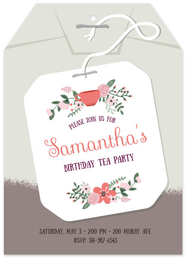 party invitations - Modern Tea Party by Kristin Mastoras