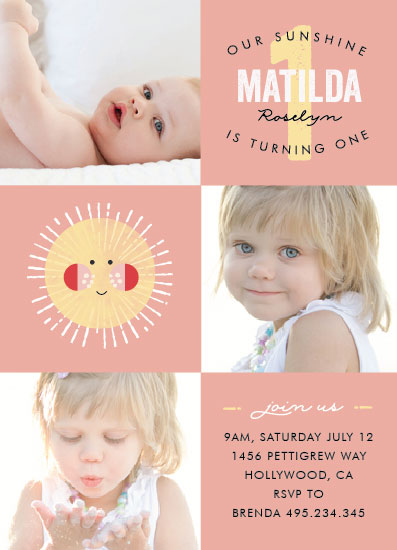 party invitations - Our Sunshine by Bonjour Berry