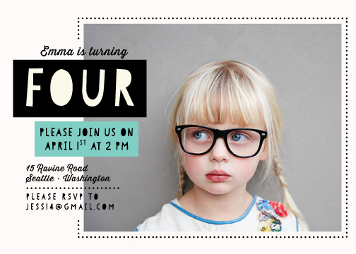 party invitations - Modern Girls Rock by Adrianne Pepitone