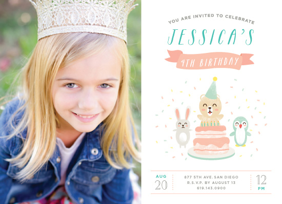 party invitations - Cute little animals by Jelly Design