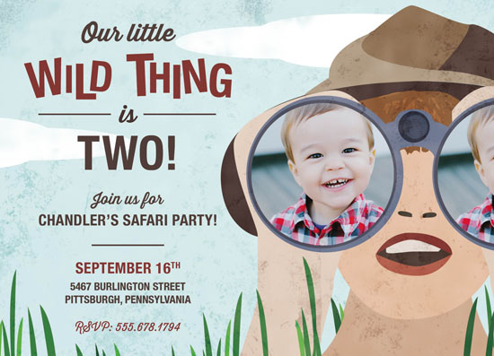 party invitations - Lets go on Safari by Peppermill Creative