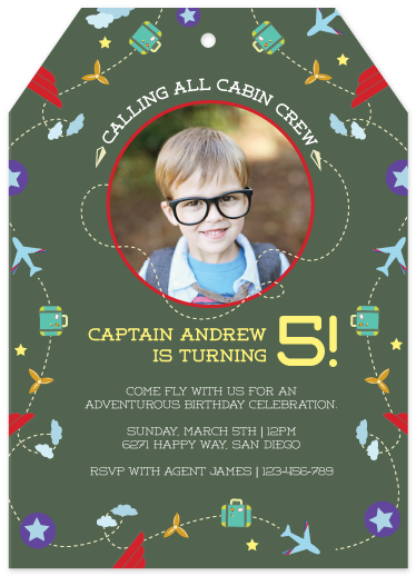 party invitations - Captain Oh Captain by Eva Nashed