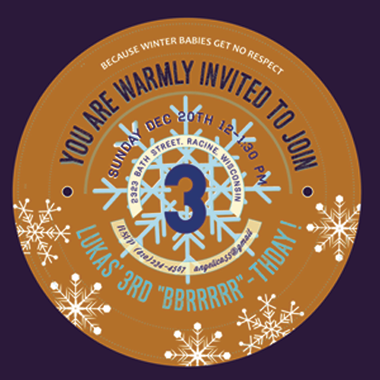 party invitations - Winter Babies by Jill Okihiro