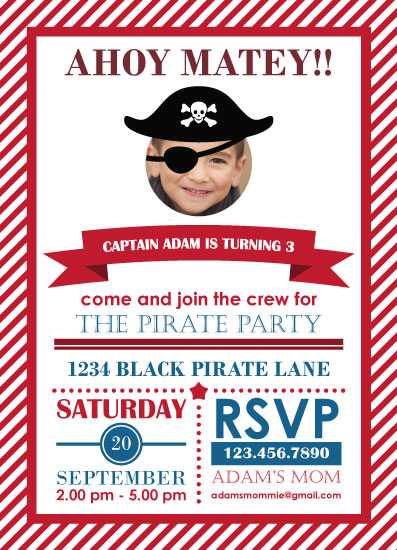 party invitations - ahoy matey! by CL