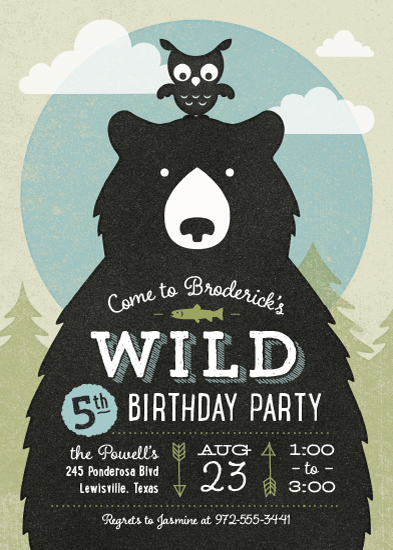 party invitations - Into the Wild by Ann Gardner